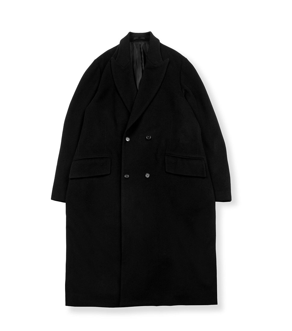 Double Breasted Coat - Black
