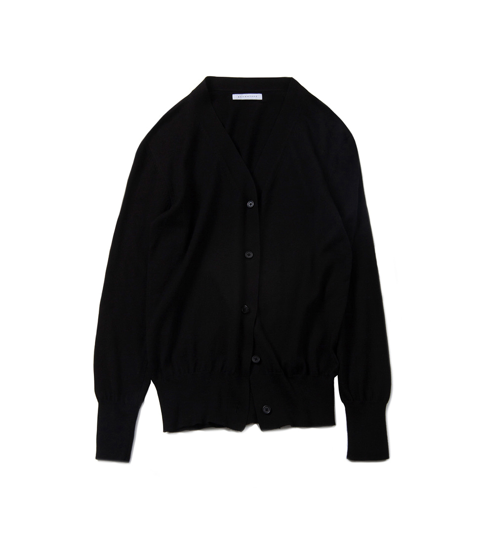 Zero V Neck Cardigan - Black